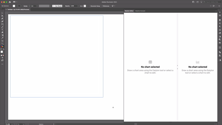 Drawing a chart area with Datylon for Illustrator