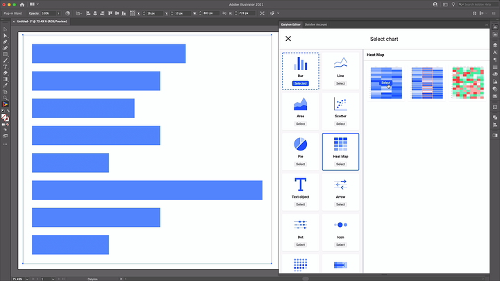 Selecting a right chart type with Datylon for Illustrator