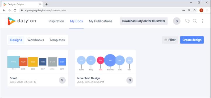 Datylon Chart Maker web app supports online collaboration