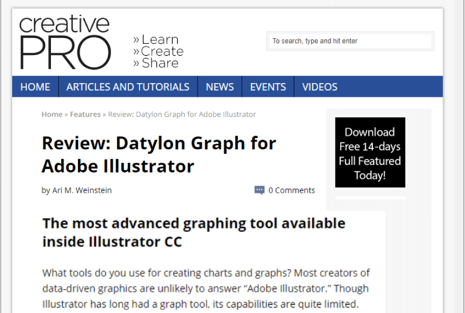 Creative Pro review of Datylon for Illustrator